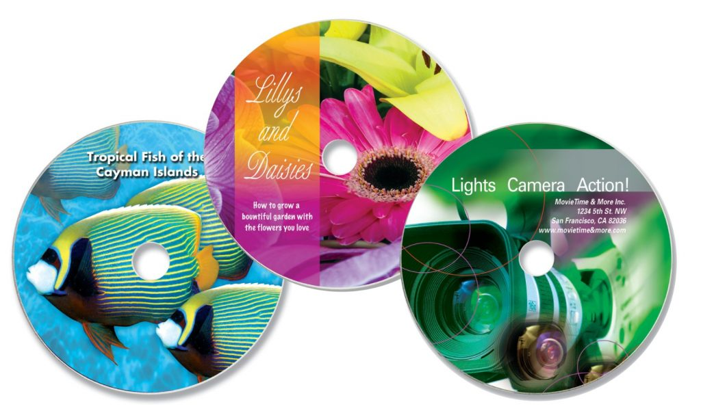 serigrafi baskılı cd dvd